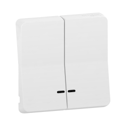 Mureva Styl - Enjoliveur 2 demi touche - IP55 - IK08 - blanc - MUR39205