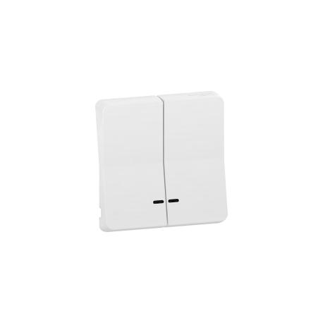Mureva Styl - Enjoliveur 2 demi touche - IP55 - IK08 - blanc - MUR39205