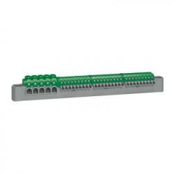 Bornier de répartition IP2X terre 5 connexions 6mm² à 25mm² - vert - 405055