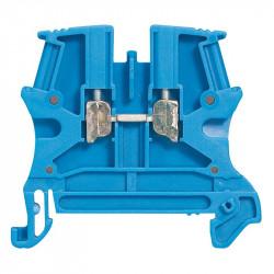 Bloc de jonction de passage à vis Viking3 avec 1 jonction 1E/1S section 2,5mm² - bleu - 037100