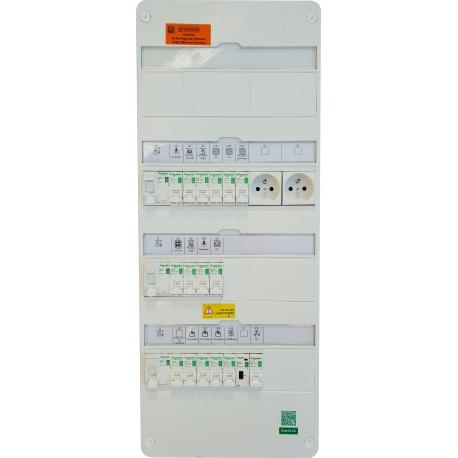 Tableau monté câblé 35 à 100m² chauffage électrique - TAMC -  SCHNEIDER