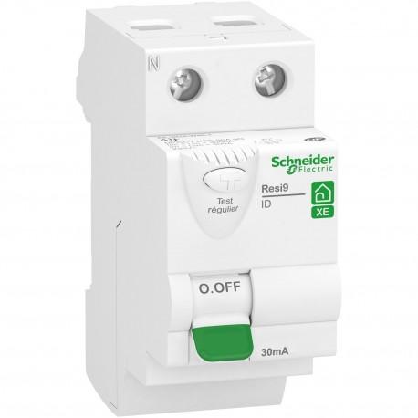 Resi9 XE - interrupteur différentiel - 2P - 63A - 30mA - Type AC - embrochable - R9ERC263