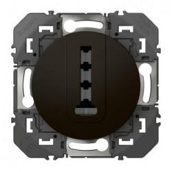 Prise téléphone en T dooxie finition noir - emballage blister - 095286