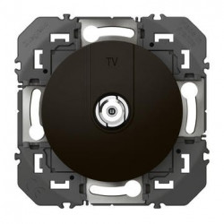 Prise TV type F à visser dooxie finition noir emballage blister - 095283