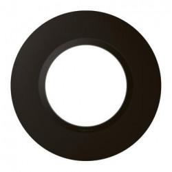 Plaque ronde dooxie 1 poste finition noir velours - 600976