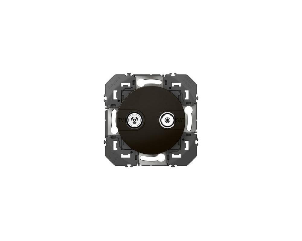 Prise TV-SAT étoile blindée dooxie finition noir - emballage blister - 095284