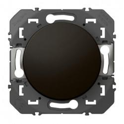 Poussoir simple dooxie 6A 250V~ finition noir - emballage blister - 095264