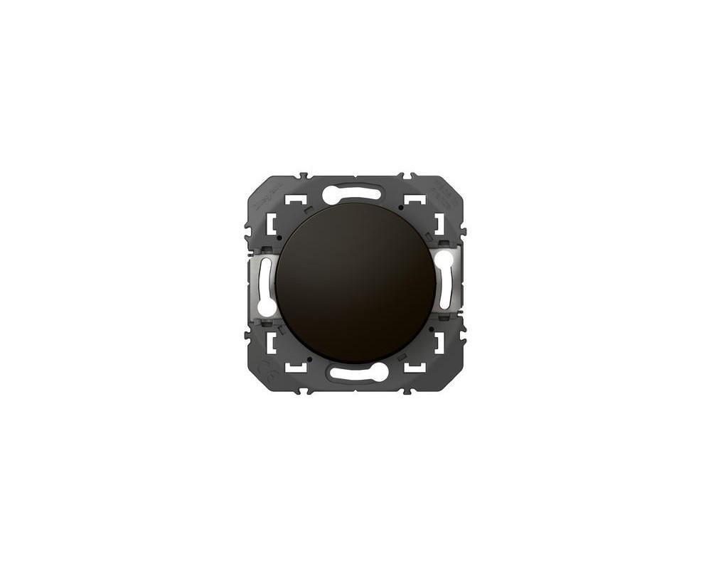 Interrupteur ou va-et-vient dooxie 10AX 250V~ finition noir -  emballage blister - 095260