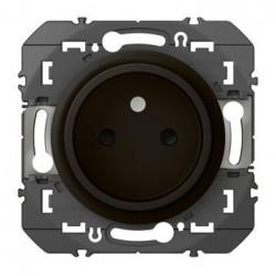 Prise de courant 2P à puits dooxie 16A finition noir - emballage blister - 095274
