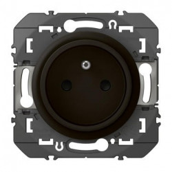 Prise de courant easyréno 2P+T faible profondeur dooxie 16A finition noir - emballage blister - 095277