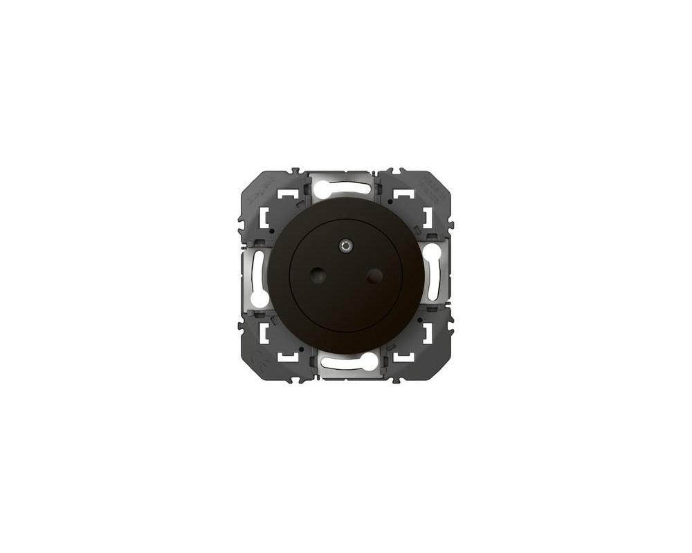Prise de courant 2P+T Surface dooxie 16A finition noir - emballage blister - 095275