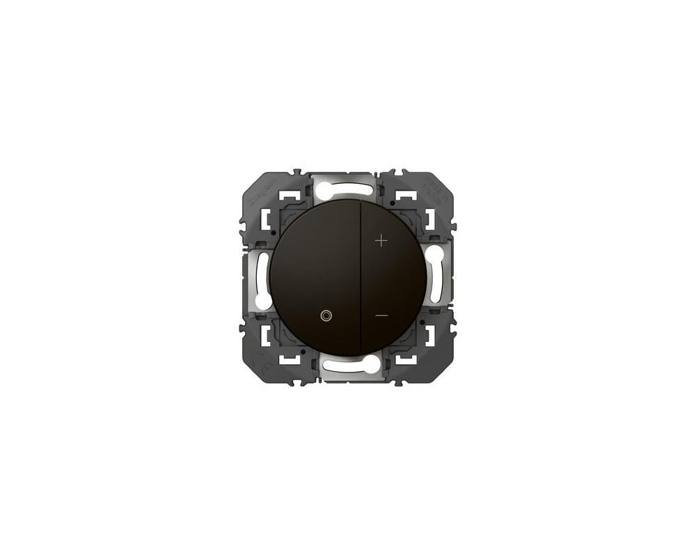 Variateur toutes lampes dooxie 2 fils sans Neutre finition noir - emballage blister - 095270