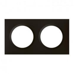 Plaque carrée dooxie 2 postes finition noir velours - 600862