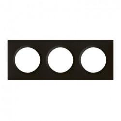 Plaque carrée dooxie 3 postes finition noir velours - 600863