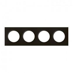 Plaque carrée dooxie 4 postes finition noir velours - 600864