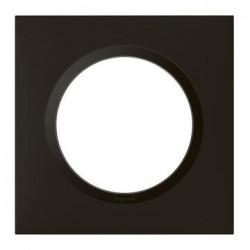 Plaque carrée dooxie 1 poste finition noir velours - 600861