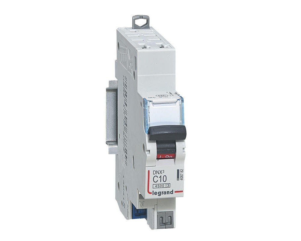 DNX3 Disjoncteur 1P+NG C10 4500A/KA AUTO - LEGRAND - 406782