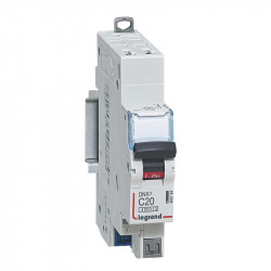 DNX3 Disjoncteur 1P+NG C20 4500A/KA AUTO - LEGRAND - 406784