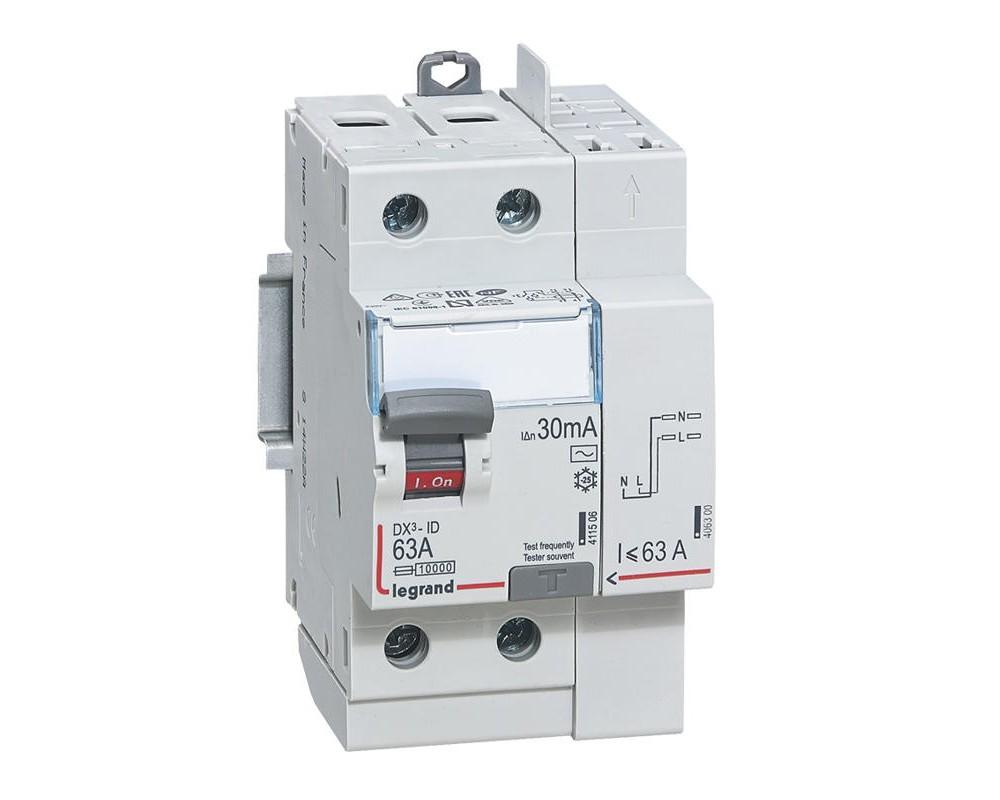 DX3-ID 30mA 63A Type AC 2P 230V - LEGRAND - 411633