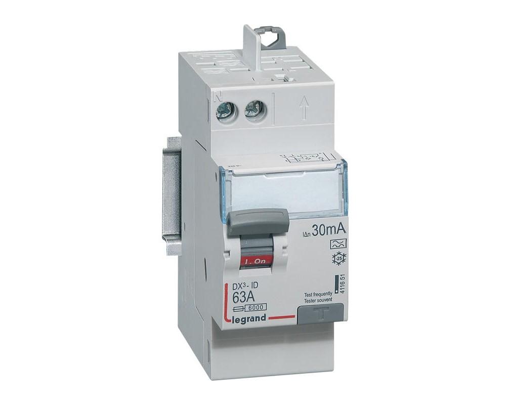 DX3-ID 30mA 63A Type A 2P 230V - 411651 - LEGRAND