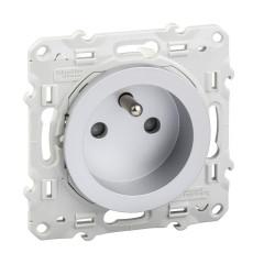 Prise de courant 2P+T Alu, à vis, connexion rapide - S530059