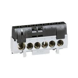 Bornier de neutre - 5 bornes câble 6 à 25 mm² + 1 câble 10 à 35 mm² -noir - 092783