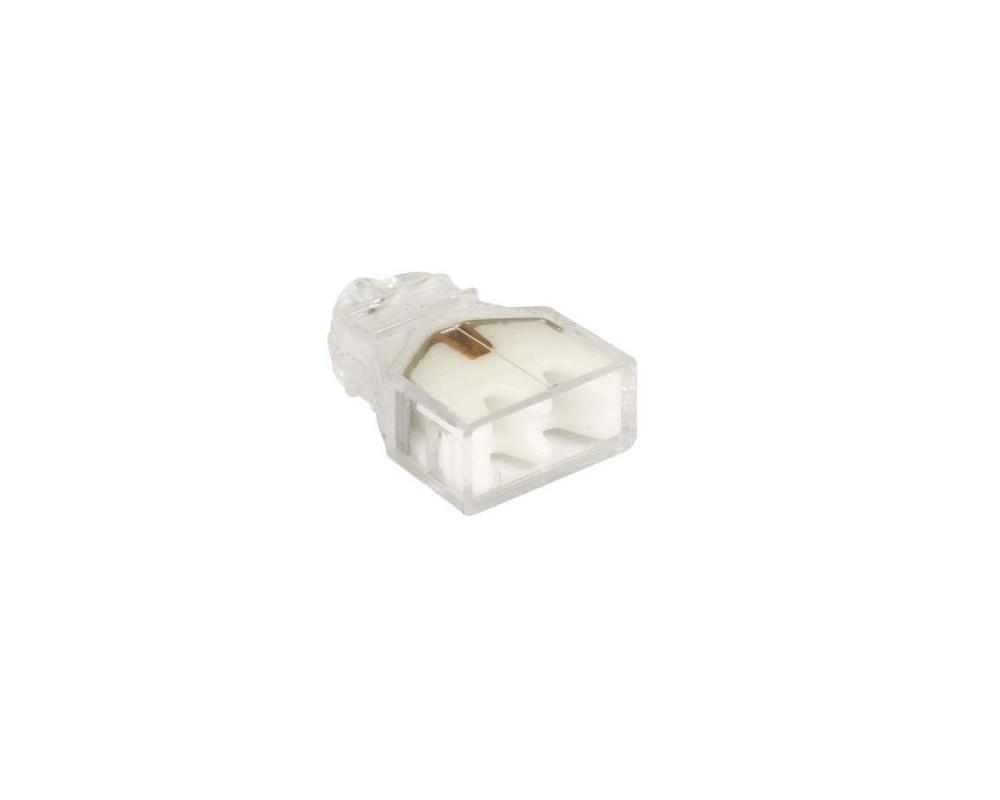 Eur'Ohm - 70052 - Boite de 100 connecteurs transparents - 2 entrées