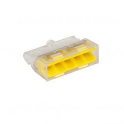 Eur'Ohm - 70055 - Boite de 100 connecteurs transparents - 5 entrées