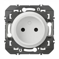 Prise de courant 2P à puits dooxie 16A finition blanc - 600334