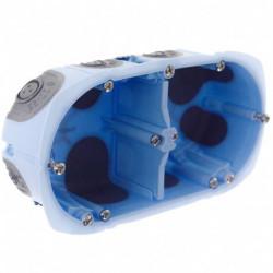 Eur'Ohm - 52064 - Boîte d'encastrement étanche 2P H/V - XL AIR'metic - vis - Prof.40mm