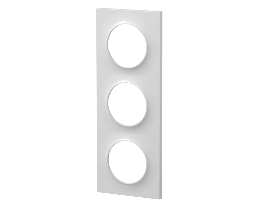 Plaque Odace Styl 3 postes blanches - Schneider Odace - S520706