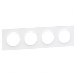 Plaque Odace Styl 4 postes blanches - Schneider Odace - S520708