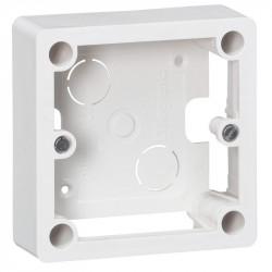 Cadre saillie 1 poste pour socle et sortie de câbles 100x100x36mm - 055849
