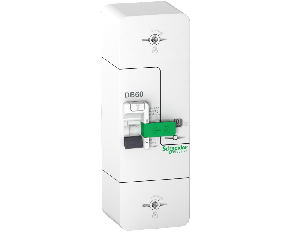 Resi9 DB60 - Disjoncteur Branchement - 1P+N - 15/30/45A 500mA - selectif - R9FS645 - SCHNEIDER