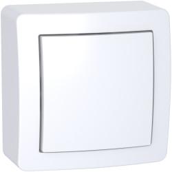 Alréa, Interrupteur simple allumage avec cadre saillie blanc polaire - ALB62050P