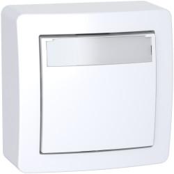 Alréa - poussoir avec porte étiquette - complet - blanc polaire - ALB62062P