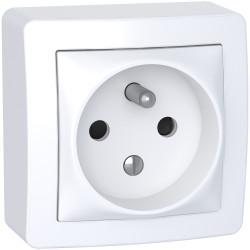 Alréa - prise de courant - 2P+T - complet - blanc polaire - ALB62272P