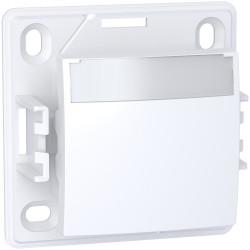 Alréa, Poussoir a fermeture porte-etiquette sans lampe, blanc polaire - ALB61062P