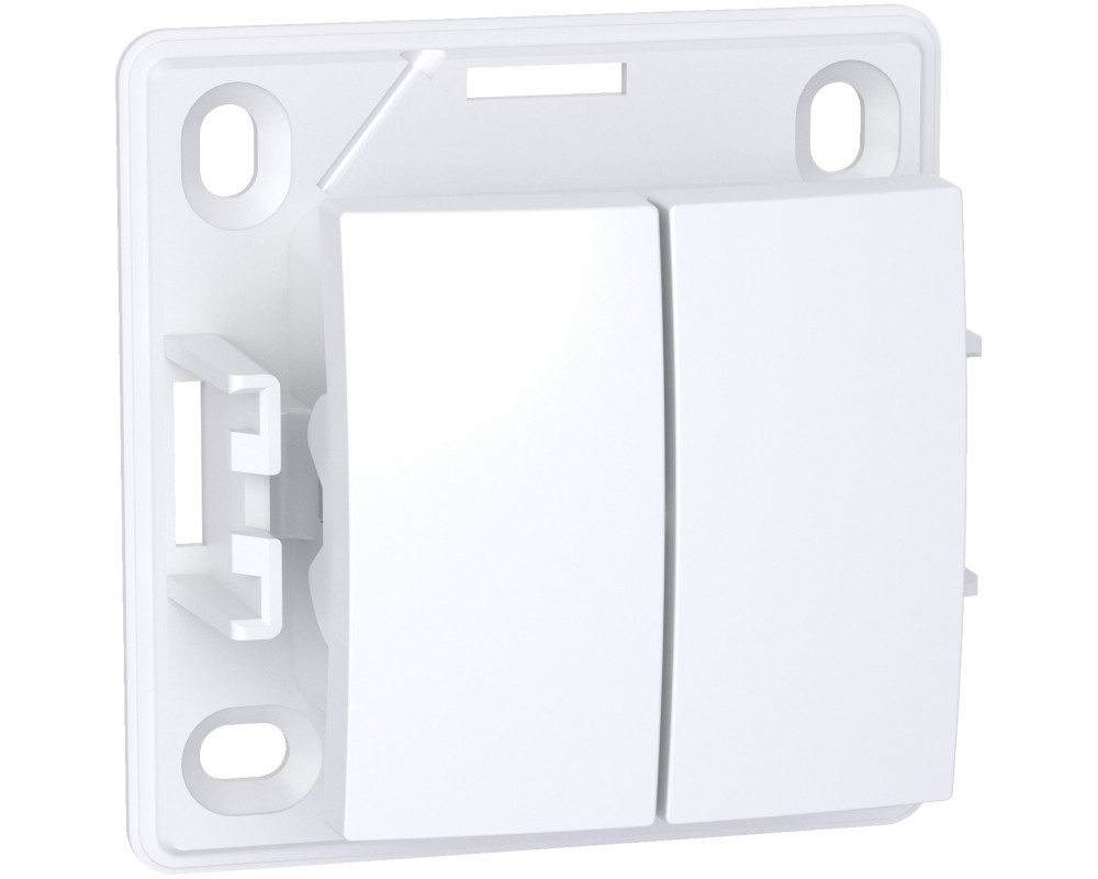 Alréa, Double poussoir O F, blanc polaire - ALB61083P