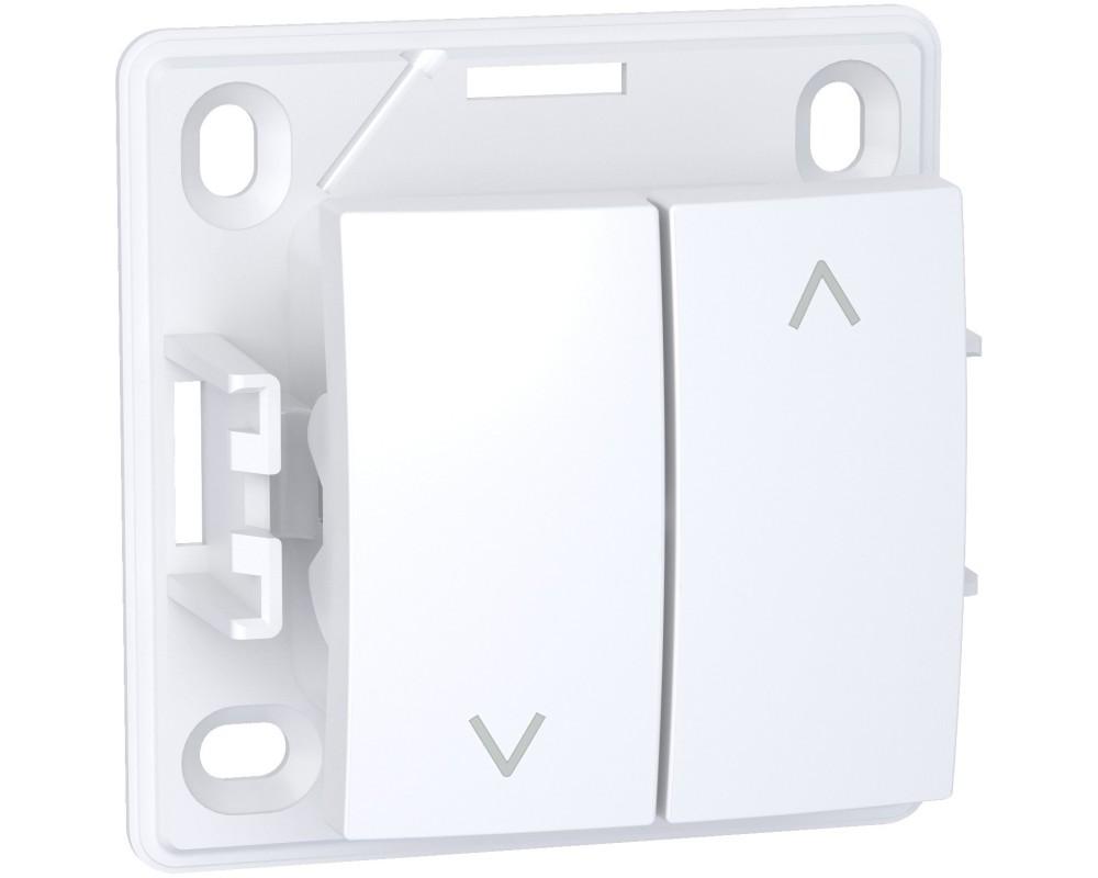 Alréa, Interrupteur volets roulants, blanc polaire - ALB61197P