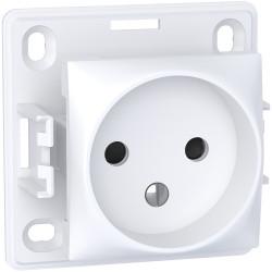 Alréa, prise de courant 2P, connexion à vis, blanc polaire - ALB61270P