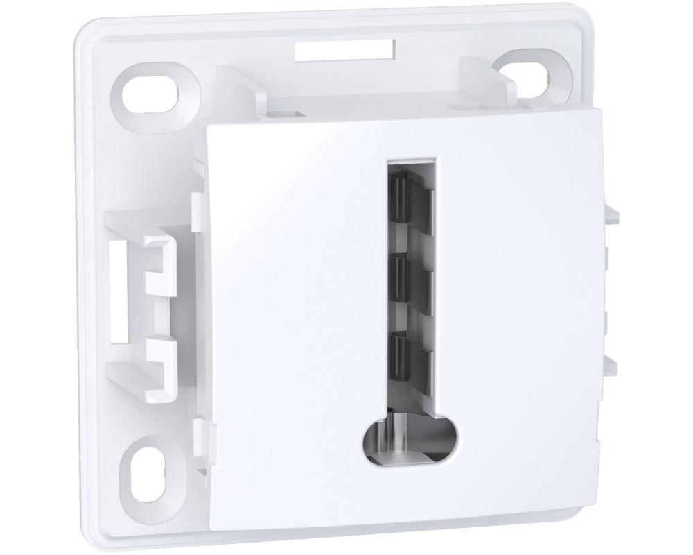 Alréa, Conjoncteur téléphonique 8 plots, blanc polaire - ALB61366P