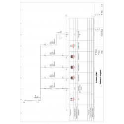Tableau électrique monté câblé 35 à 100m² Chauffage électrique - LEGRAND - schéma