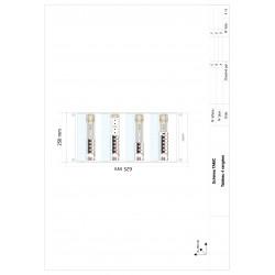 Tableau électrique monté câblé 35 à 100m² Chauffage électrique - LEGRAND - face