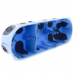 Eur'Ohm - 52066 - Boîte d'encastrement étanche 3P H/V - XL AIR'metic - vis - Prof.40mm