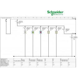 Tableau Electrique SCHNEIDER XP TAMC 35 à 100m² chauffage électrique schéma
