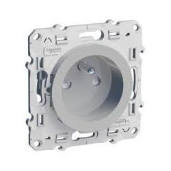 S530049 - Prise de courant 2P+T Alu, à vis, connexion rapide- spéciale rénovation