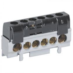 Bornier de répartition IP2X phase - 1 connexion 10mm² à 35mm² - noir - legrand - 004816