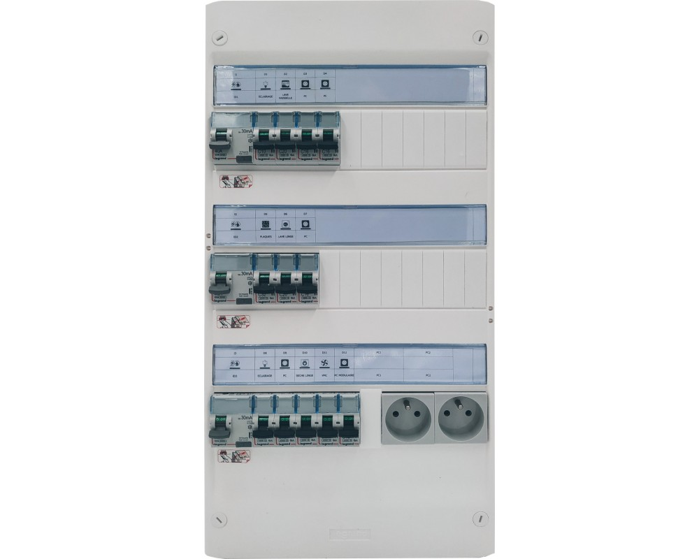 Tableau électrique monté câblé 35 à 100m² - LEGRAND