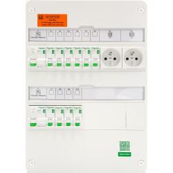 Tableau électrique SCHNEIDER RESI 9 - XE TAMC - 2 rangées - face avant